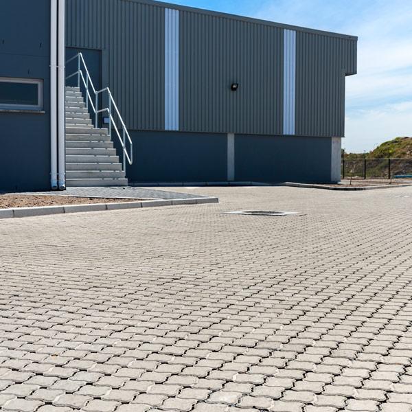C.E.L. Paving commercial application of Permealock paver