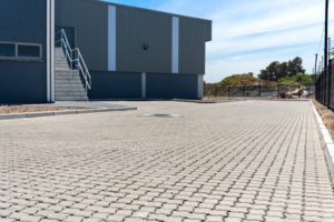 C.E.L. Paving Products Grey Permealock in an industrial location