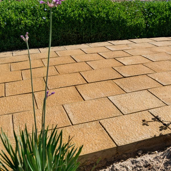 C.E.L. Paving Products Granito blocks for walkways in a residential estates
