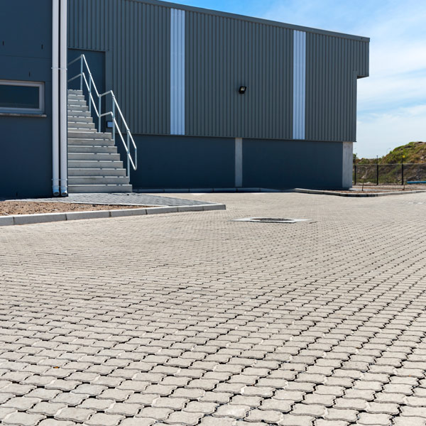 C.E.L. Paving commercial application of Permealock paver
