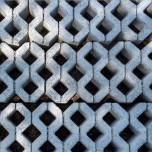 Grassblocks open concrete block paving