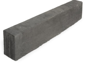 C.E.L. Paving Products Grey Straight Edge kerb in the standard Lava finish