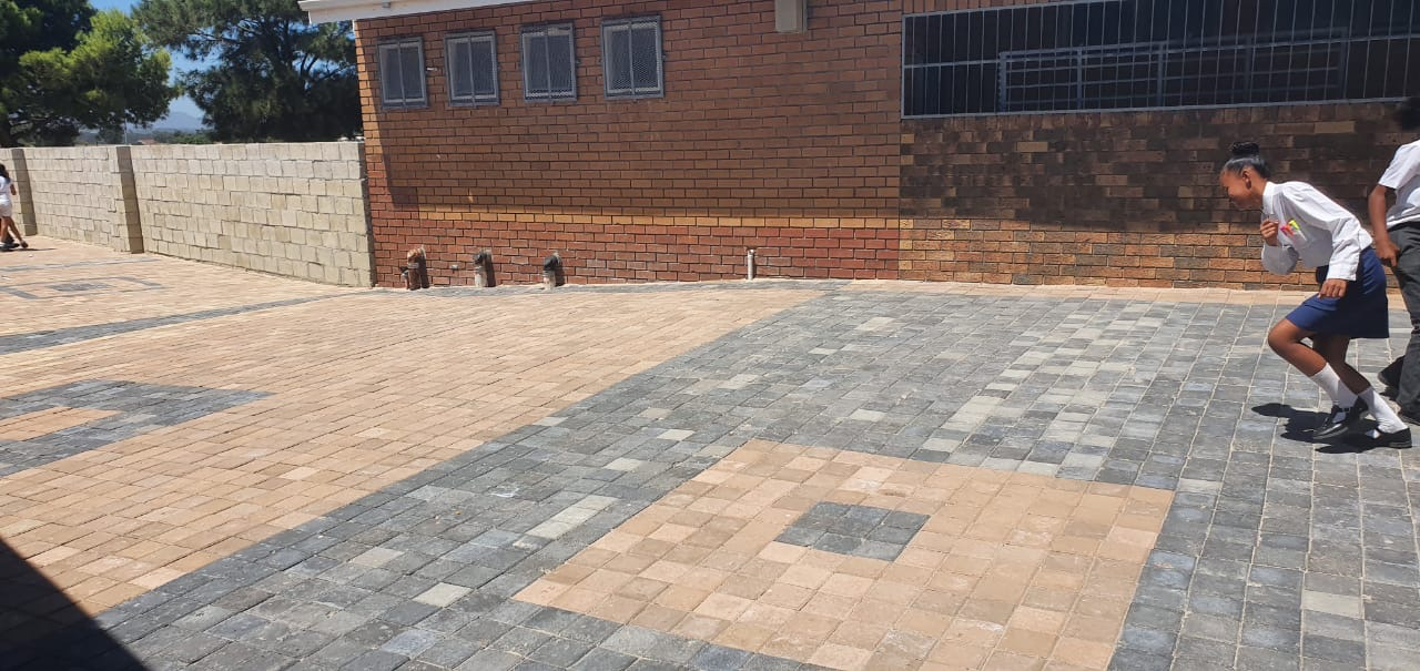 C.E.L. Paving donates concrete block  paving to local school