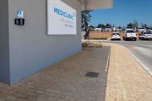 Exposed Aggregate paver at Mediclini Cape Town